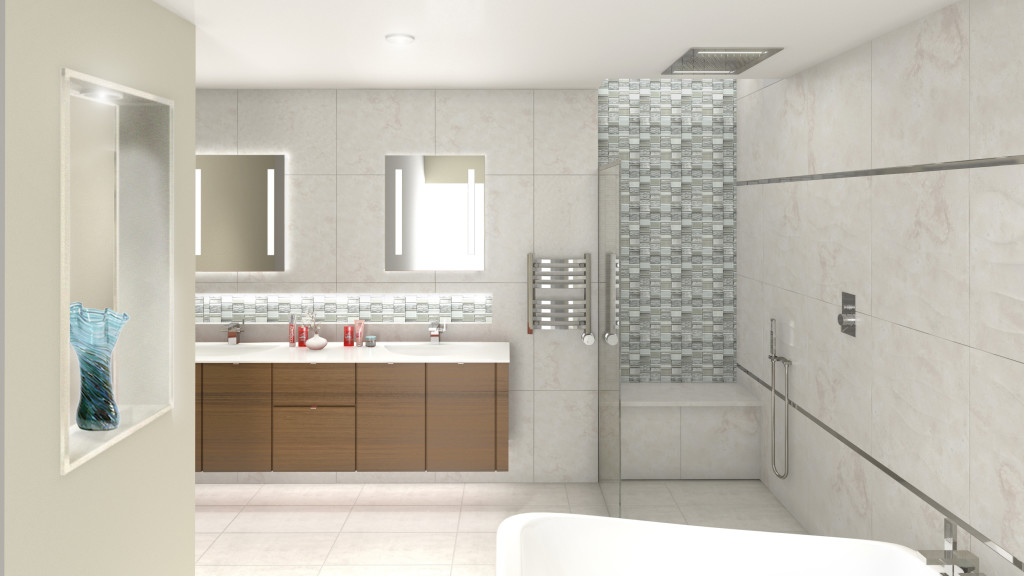 Penthouse Bathroom Rendering
