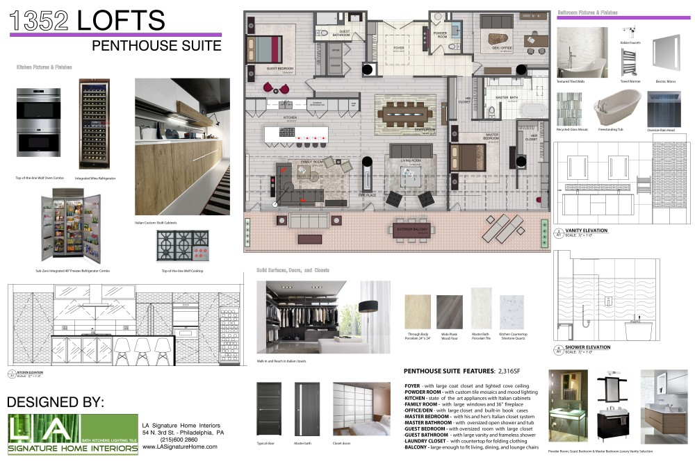 Penthouse renderings 1352 lofts philadelphia loft real estate for sale - Lay outs penthouse ...