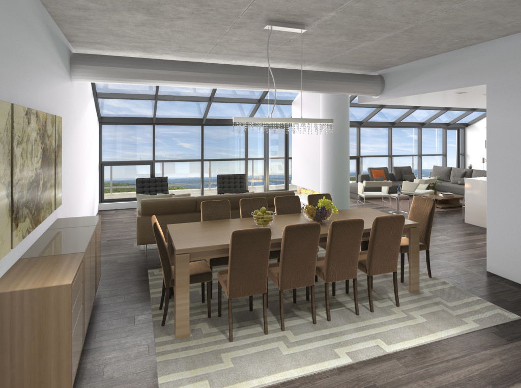 Penthouse Dining Room Rendering
