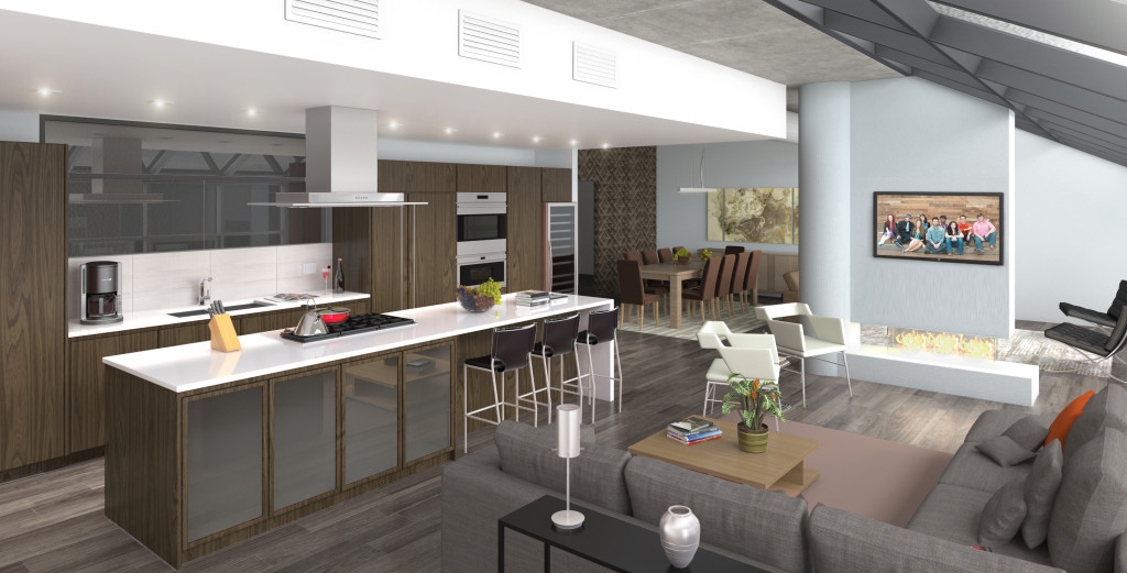 Penthouse Family Room Rendering