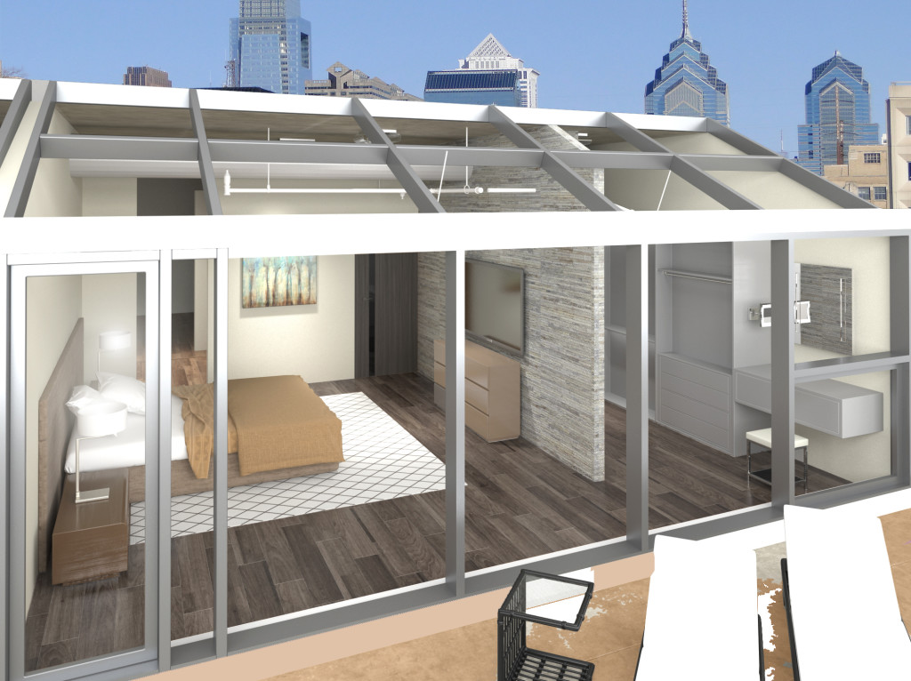 Penthouse Master Bedroom Rendering
